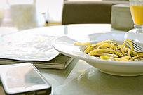 餐厅用餐时画面摄影