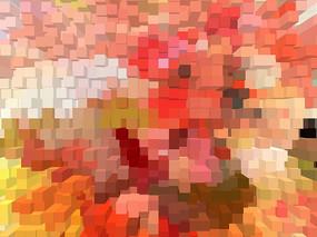 抽象艺术背景墙 色块 印花