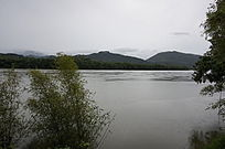 江河山水画风景图片