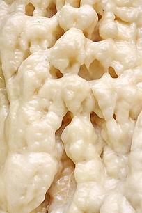 乳白光滑的钟乳石奇石