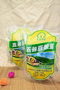 五谷豆浆豆外包装