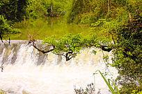 峡谷瀑布风光摄影
