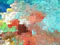 现代风格 3d立体背景墙