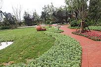 小区园林景观绿地摄影