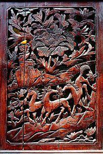 传统木门雕花