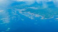 俯瞰帕劳群岛