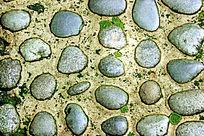 河卵石地面