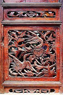 花鸟木雕木窗