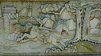 将军石雕壁画