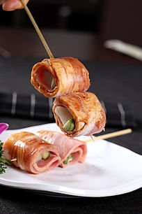 烤神户牛肉卷青瓜