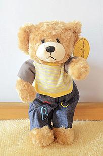 可爱的狗熊布娃娃公仔图片