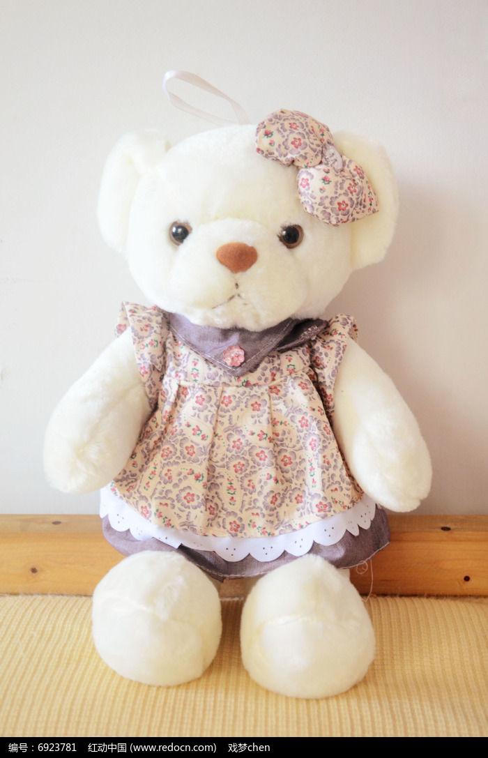 可爱的小熊布娃娃木条益智玩具正方形图片图片