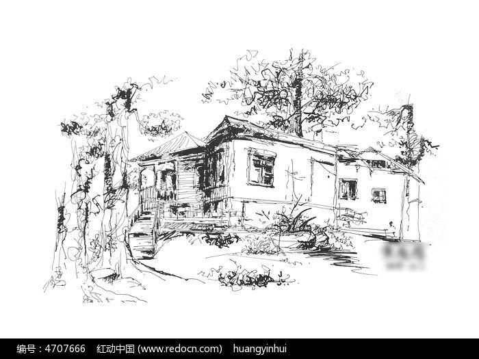 森林公园写生图片图片,高清大图_插画绘画素材