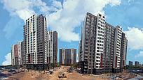 城市建筑高楼大厦摄影全景图