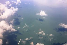 高空俯拍海洋