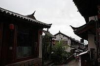 古城屋檐摄影素材