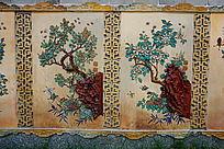 陶瓷花卉立面壁画