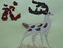 豆拼画小鹿