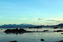 蓝色的海洋风光
