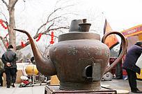 老式铜茶壶