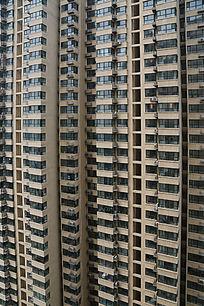 透视高层居民大楼