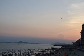 傍晚的大海摄影
