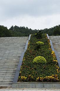 笔架山森林公园石阶与花坛