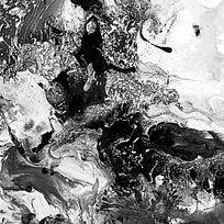 打印喷绘抽象画黑白装饰画