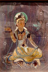 佛教人物油画