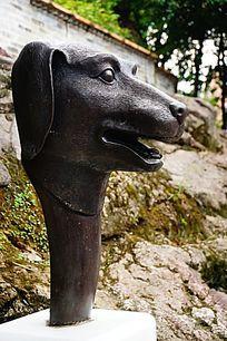 狗生肖铜雕