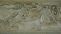 古代三国人物浮雕画