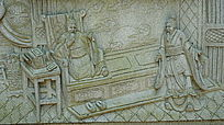 故事人物石壁画
