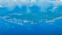 航拍帕劳群岛