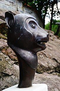 猴子生肖铜雕