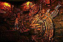 科技墙壁浮雕