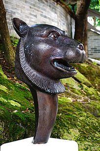 老虎生肖铜雕