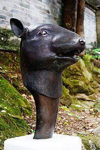 老鼠生肖铜雕