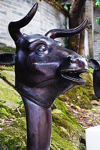 牛生肖铜雕