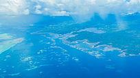 帕劳航拍七色帛琉海