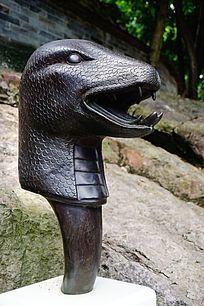 蛇生肖铜雕