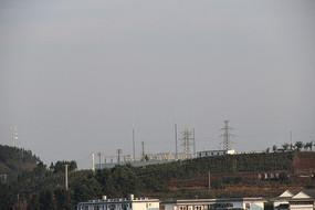 云南玉溪新平马鹿塘110千伏变电站远眺