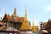 金碧辉煌的泰国大皇宫