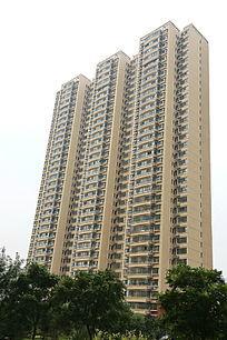 生活小区的摩天大楼