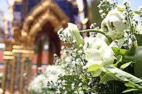 泰国大皇宫佛诞日的花