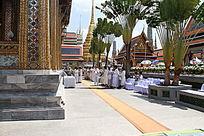 泰国大皇宫佛诞仪式