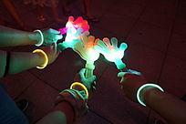 LED塑料手掌灯和荧光棒