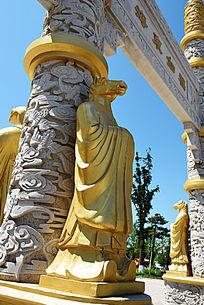 金漆石雕生肖马