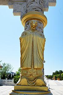 金漆石雕生肖羊