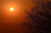 夕阳西下风景图片