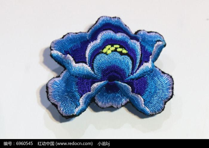 苗族刺绣蓝色花朵高清图片下载 红动网图片